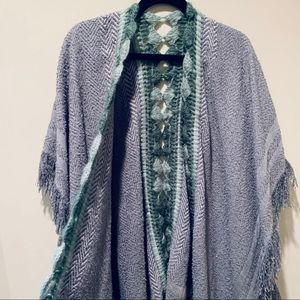 New Anthropologie grey shawl
